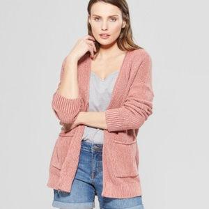 Universal Thread Ribbed Cardigan Sweater Blush M